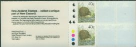 NZ Booklet SGSB51 $4 Brown Kiwi Booklet containing SG1463 5 Kiwi